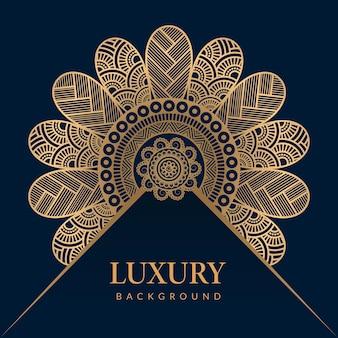 Conception de mandala ornemental islamique de luxe backgroun style islamique arabe style ramadan décoratif