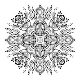 Conception de mandala pour coloriage
