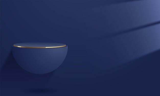 Conception de maquette d'affichage de produit minimaliste