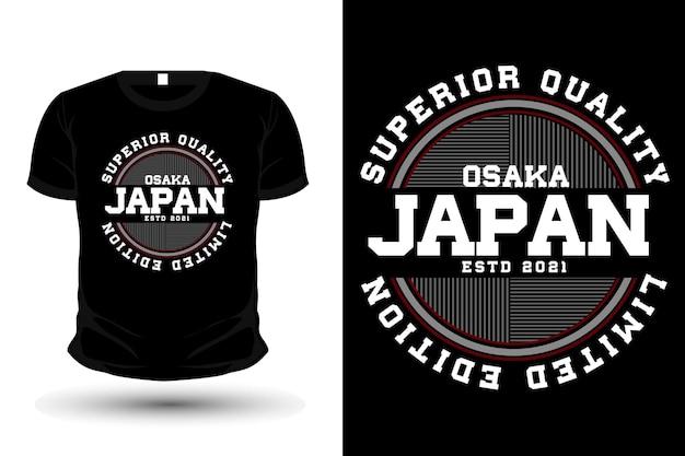 Conception de maquette de t-shirt de typographie de vêtements originaux au japon
