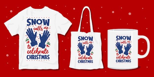 Conception de marchandises de t-shirt d'hiver de noël
