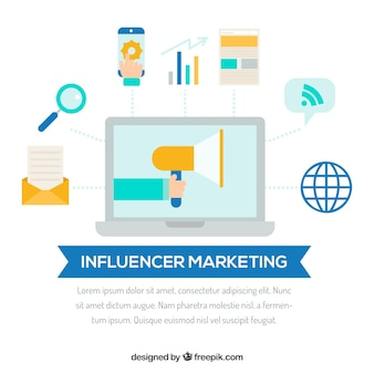 Conception marketing d'influencer
