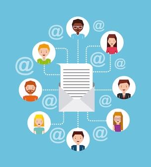 Conception de marketing postal