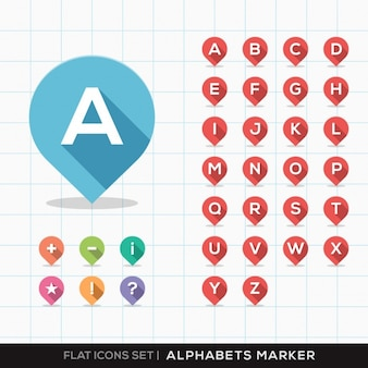 Conception de marqueurs alphabet
