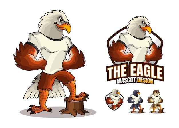 Conception de mascotte d'aigle