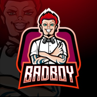 Conception de mascotte bad boy esport logo
