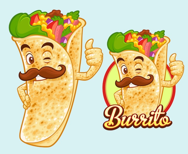 Conception de mascotte burrito