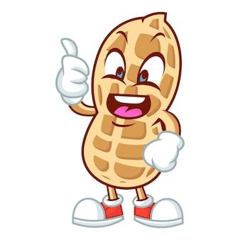 Conception de mascotte de cacahuète
