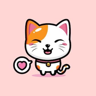 Conception de mascotte de chat mignon