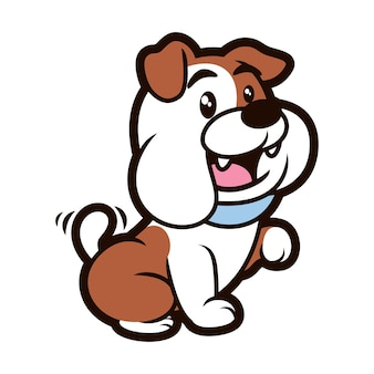 Conception de mascotte de chien