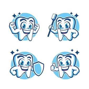 Conception de mascotte de dents saines