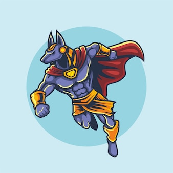 Conception de mascotte esport logo anubis