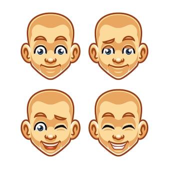 Conception de mascotte expression visage