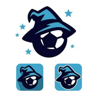 Conception de mascotte de football wizard