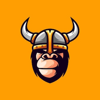 Conception de mascotte de gorille viking