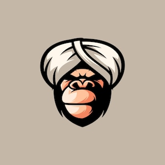 Conception de mascotte de gorille