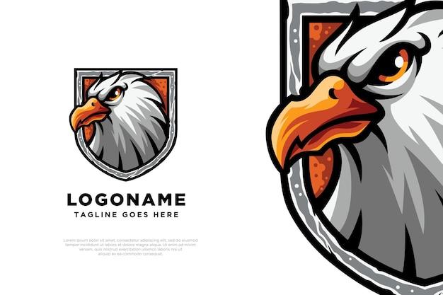 Conception de mascotte de logo d'aigle