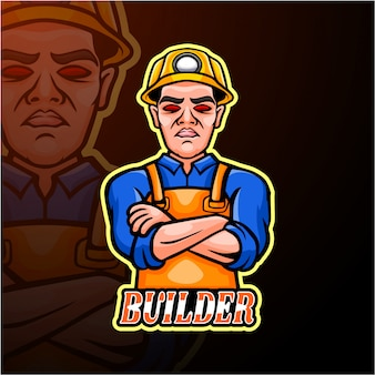Conception de mascotte de logo esport builder