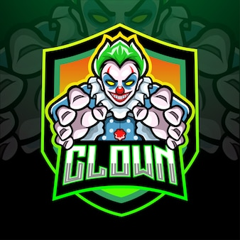 Conception de mascotte de logo esport clown