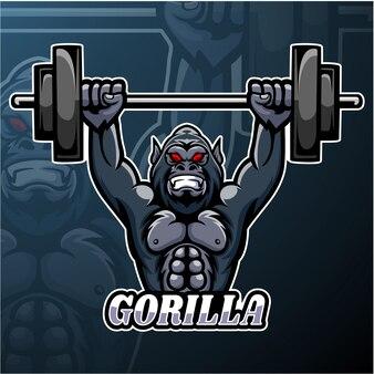 Conception de mascotte de logo esport gorilla