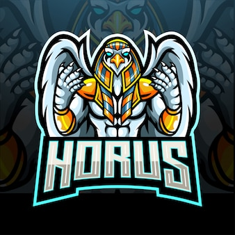 Conception de mascotte de logo horus esport