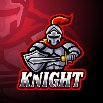Conception de mascotte logo knight esport