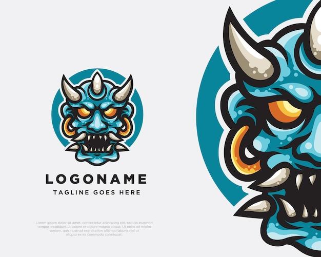 Conception de mascotte de logo d'oni
