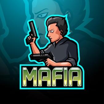 Conception de mascotte de logo de sport de mafia e