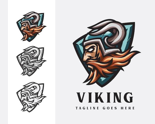 Conception de mascotte de logo de viking