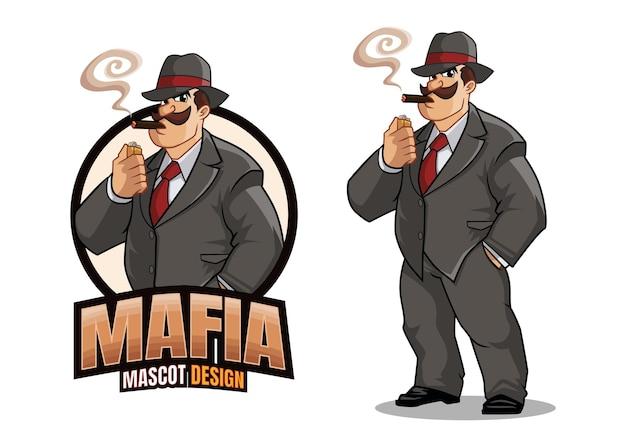 Conception de mascotte de mafia