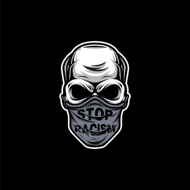 Conception de mascotte de masque de crâne