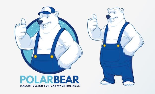 Conception de mascotte d'ours polaire