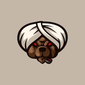 Conception de mascotte d'ours