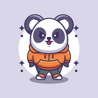 Conception de mascotte panda mignon