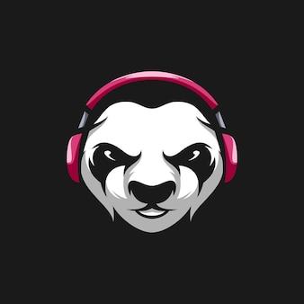 Conception de mascotte de panda