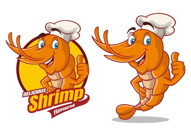 Conception de mascotte de personnage de dessin animé shirmp