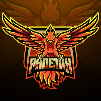 Conception de mascotte phoenix esport logo