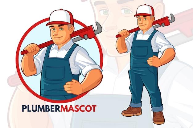 Conception de mascotte de plombier