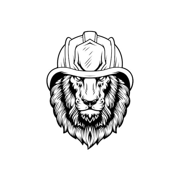 Conception de mascotte de pompier