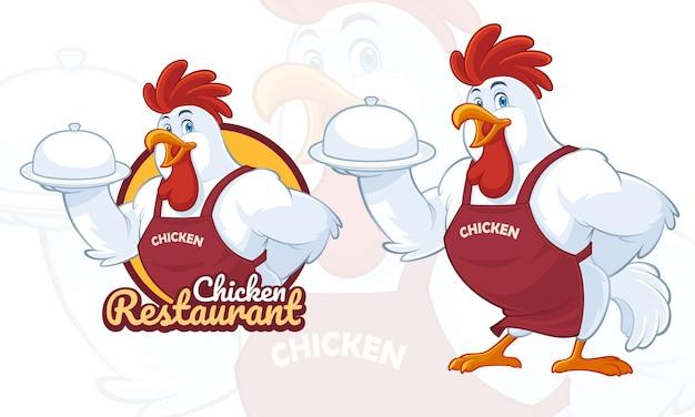 Conception de mascotte de poulet pour les entreprises de restauration