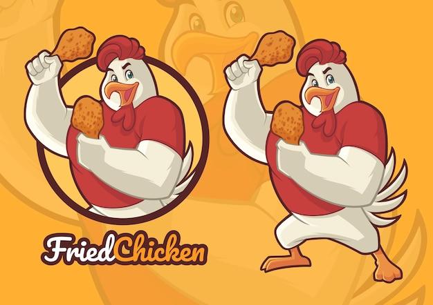 Conception de mascotte de poulet pour un restaurant de poulet frit