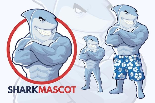 Conception de mascotte de requin