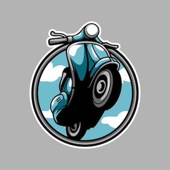 Conception de mascotte de scooter