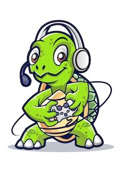 Conception de mascotte de tortue