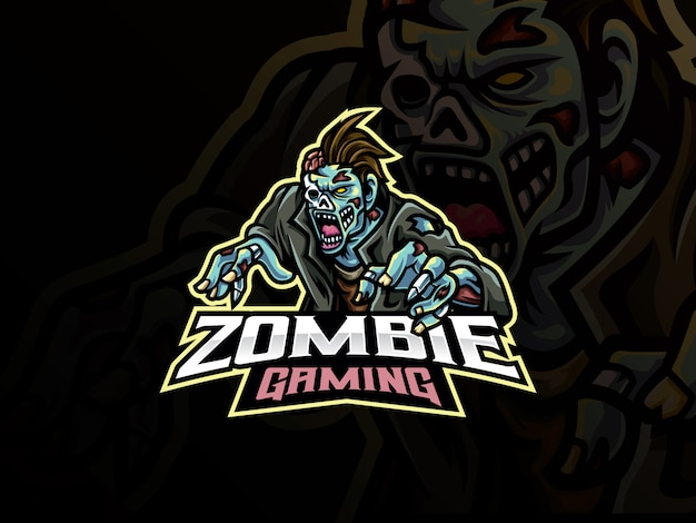 Conception de mascotte de zombie monstre