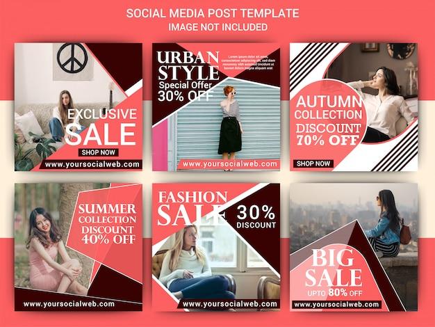 Conception de médias sociaux de mode