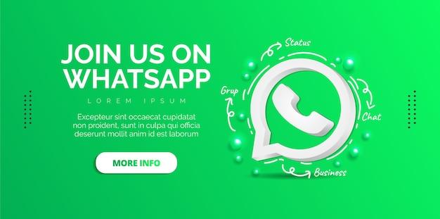Conception de médias sociaux whatsapp avec fond vert