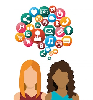 Conception de médias sociaux