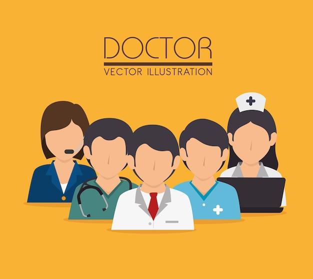 Conception médicale, illustration vectorielle.