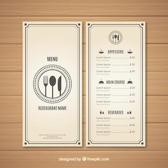 Conception de menu blanc moderne